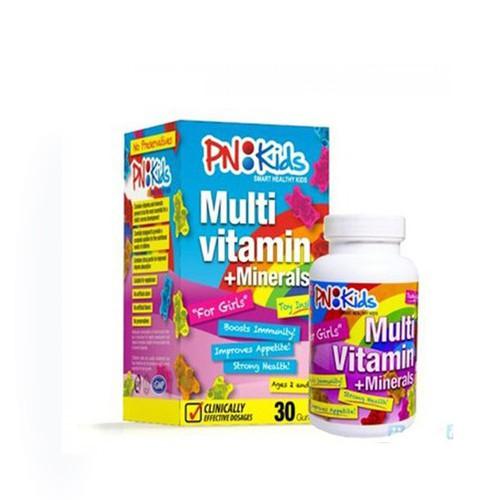 """Viên nhai PN:Kid bổ sung  """"Multi Vitamin"""" cho bé gái – hộp 30 viên"""