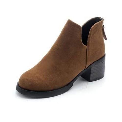 Giày boot nữ cổ thấp, giày boot nữ tăng chiều cao, bốt nữ màu nâu - 5817237 , 12304272 , 15_12304272 , 300000 , Giay-boot-nu-co-thap-giay-boot-nu-tang-chieu-cao-bot-nu-mau-nau-15_12304272 , sendo.vn , Giày boot nữ cổ thấp, giày boot nữ tăng chiều cao, bốt nữ màu nâu