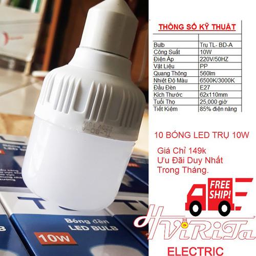 [BUÔN SỈ] 10 Bóng Đèn Led bulb TL thân Trụ 5w