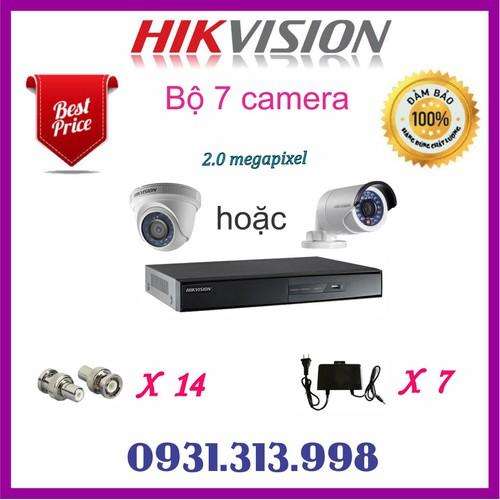 Trọn bộ camera HIKVISION 7 Camera 2.0mp