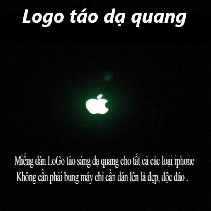 Miếng dán táo phát sáng dạ quang cho điện thoại 1