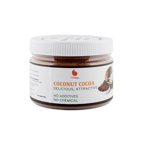 [KÈM QUÀ] Cacao sữa dừa 3in1 thơm ngon , dạng hũ dễ bảo quản Light Cacao - 230g