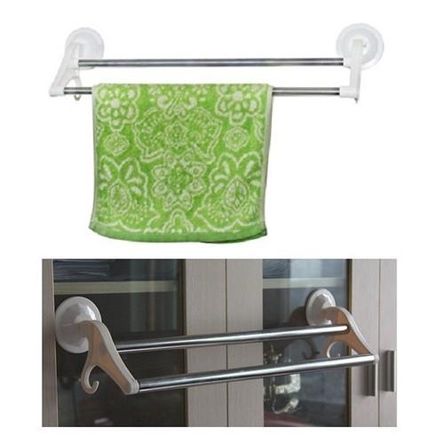 Giá treo khăn đôi với miếng hút chân không cho phòng tắm - 5729834 , 12182594 , 15_12182594 , 150000 , Gia-treo-khan-doi-voi-mieng-hut-chan-khong-cho-phong-tam-15_12182594 , sendo.vn , Giá treo khăn đôi với miếng hút chân không cho phòng tắm