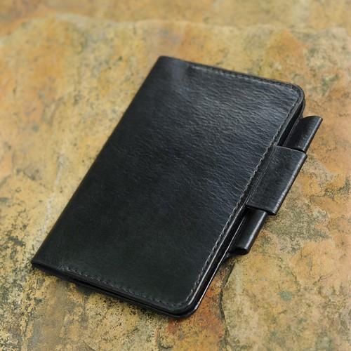 Bìa bọc sổ kèm ngăn đựng thẻ đồ da Handmade Mino Crafts VI187