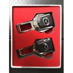 Bộ 2 Chiếc Đầu Chốt Cài Dây An Toàn Logo Mazda