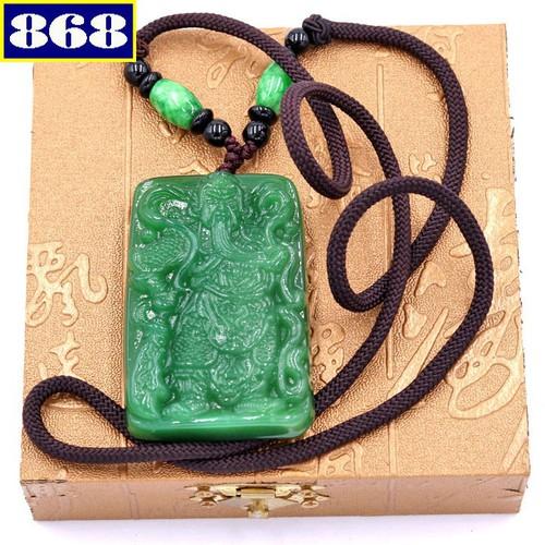 Dây chuyền Quan Công 5.6 xanh DNQCX15 hộp gỗ