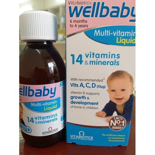 Vitamin tổng hợp Wellbaby Anh quốc tăng sức đề kháng cho bé