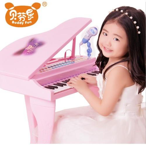 Đàn Piano Mini Có Mic Cho Bé Hồng