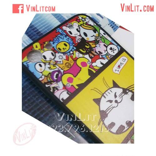 Ốp lưng Iphone 6 Plus | 6s Plus mèo mập viền dẻo I love Cs