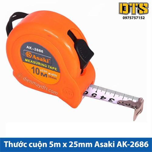 Thước cuộn 10m x 25mm Asaki AK-2686