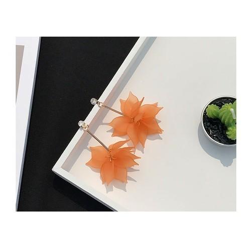 Khuyên tai nữ thời trang TT25. khuyên tai nữ hoa cam
