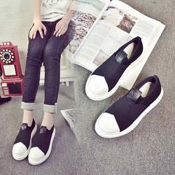 Giày lười nữ - Giày slip on nữ - giày bánh mì độn đế