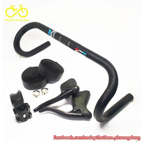 Combo ghi đông xe đạp Fsyc, pô tăng, tay phanh, dây quấn vân Carbon - 5735718 , 12190720 , 15_12190720 , 420000 , Combo-ghi-dong-xe-dap-Fsyc-po-tang-tay-phanh-day-quan-van-Carbon-15_12190720 , sendo.vn , Combo ghi đông xe đạp Fsyc, pô tăng, tay phanh, dây quấn vân Carbon