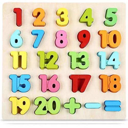 Bảng số nổi bằng gỗ 20
