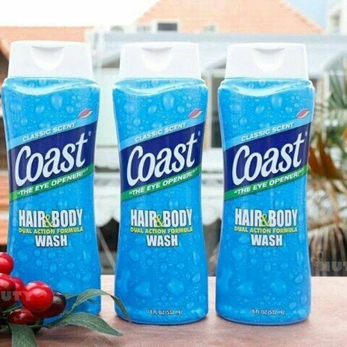 Sữa Tắm gội Coast hair and Body Wash 532ml