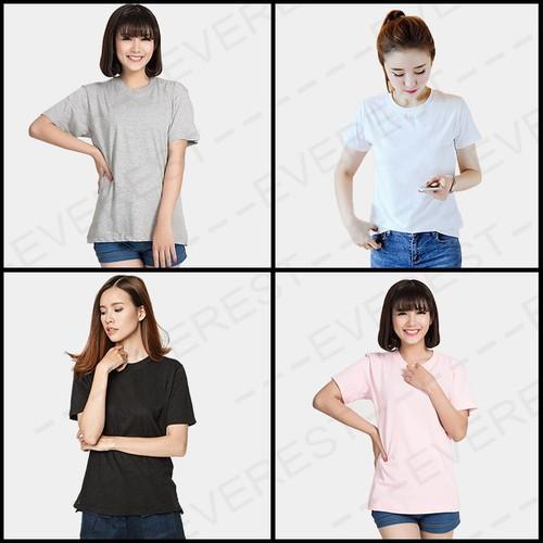 Combo 4 áo thun trơn nữ sành điệu thời trang CB4aoTĐXHong