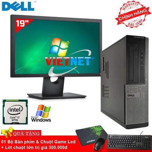 Máy tính văn phòng DellOptiplex i7 Ram 4GB Hdd 500GB Tặng MH 19 inch