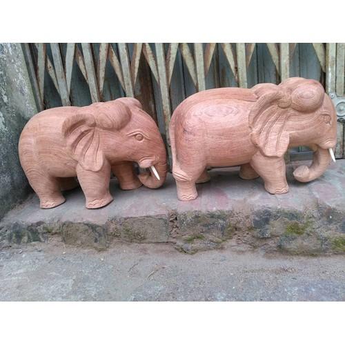 Tượng voi gỗ hương 30-15-15