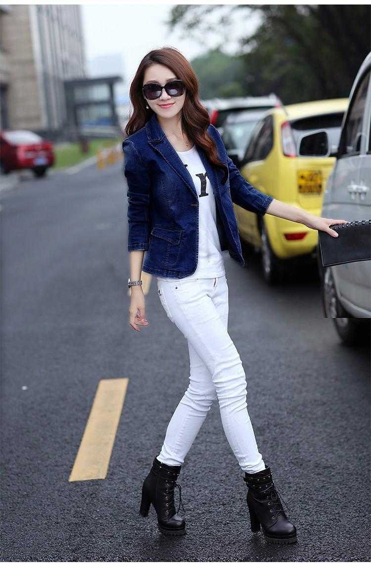 Áo khoác jean nữ cá tính cực xinh BY1068 6