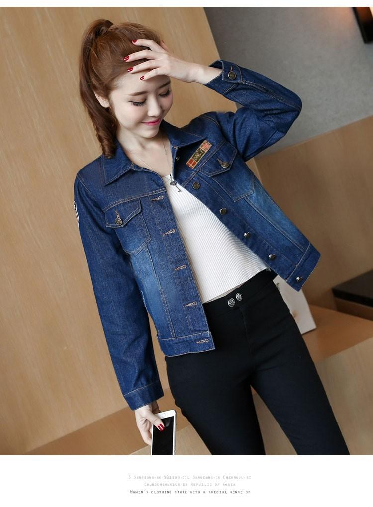 Áo khoác jean nữ cá tính cực xinh BY1068 2