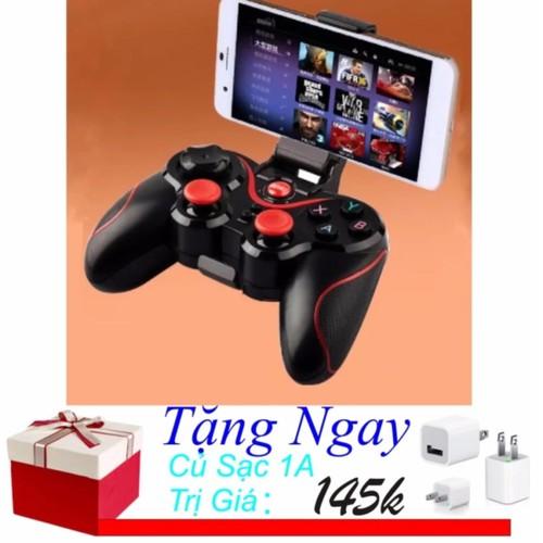 Tay cầm chơi game bluetooth Gamepad X3 + Củ Sạc 1A - 5741889 , 12197965 , 15_12197965 , 245700 , Tay-cam-choi-game-bluetooth-Gamepad-X3-Cu-Sac-1A-15_12197965 , sendo.vn , Tay cầm chơi game bluetooth Gamepad X3 + Củ Sạc 1A