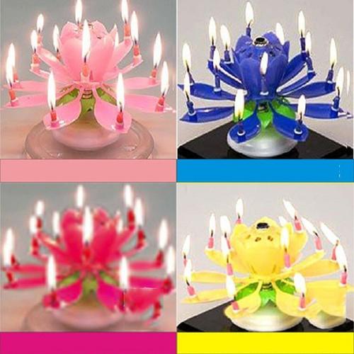 Nến sinh nhật nở hoa, phát nhạc