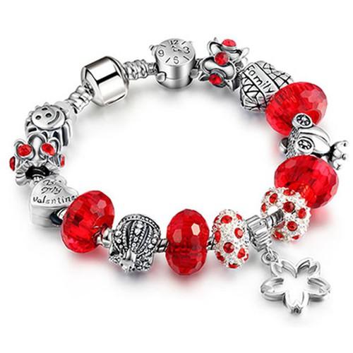 Vòng charm đính đá lấp lánh Sendo thời trang LK622