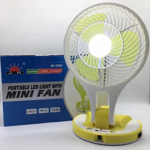 Quạt đèn sạc tích điện Mini Fan JR 5580 - i tỏa cơn mát