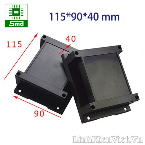 Hộp nhựa PLC 115x90x40 Đen