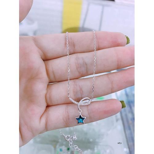 Dây chuyền bạc ta mặt ngôi sao xanh 190k