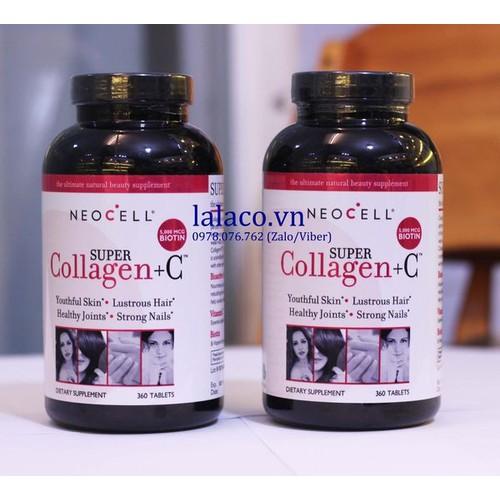 Viên uống bổ sung CollagenNeoCell Super Collagen C 360 viên Mỹ