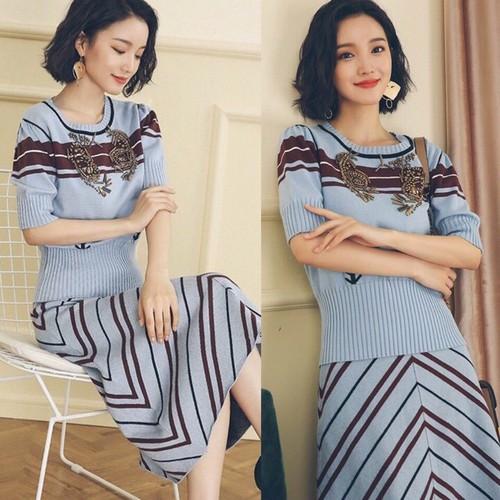 Set Áo Váy Len Mịn Trẻ Trung Cao Cấp ANN501