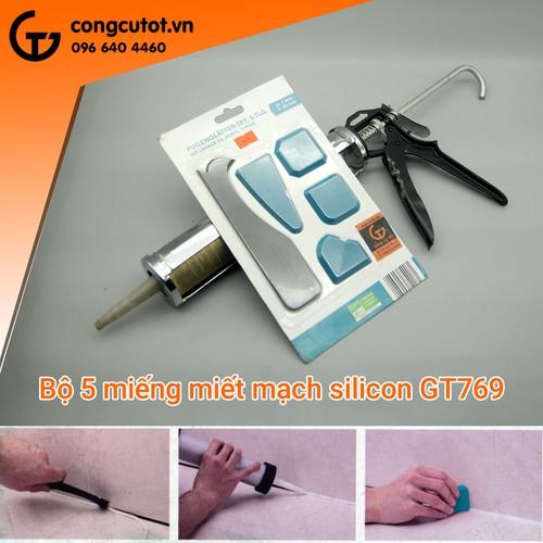 Bộ 5 dụng cụ miết mạch và làm sạch silicon