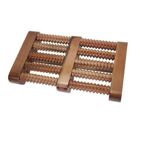 Bàn lăn gỗ massage 5 hàng nhỏ|Dụng cụ massage chân bằng gỗ