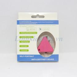 Thiết bị phát bluetooth chống mất đồ đạc kiểu tam giác màu hồng