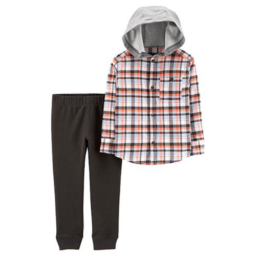 Set áo sơ mi có nón và quần thun Carter cho bé trai 9m-5T BT180