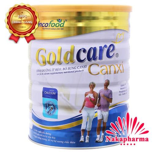 ✅ [CHÍNH HÃNG] Sữa bột Goldcare Canxi 900g - Ít béo, bổ sung Canxi cho người lớn tuổi, suy nhược