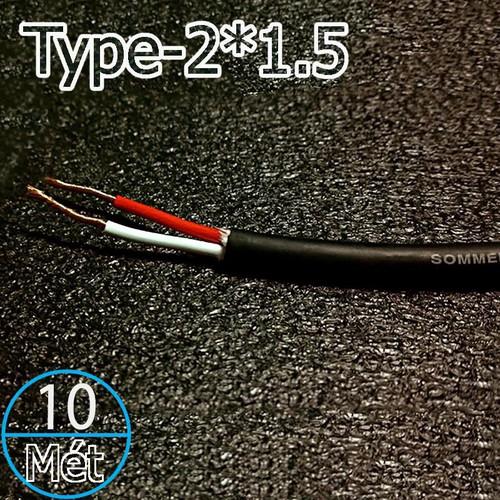 Dây loa SOMMER 2 lõi-234 sợi 2 x1.5mm OFC 18AWG SP225 - 10 mét