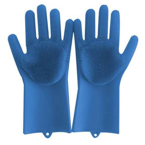 Bộ 2 găng tay rửa bát silicon tạo bọt