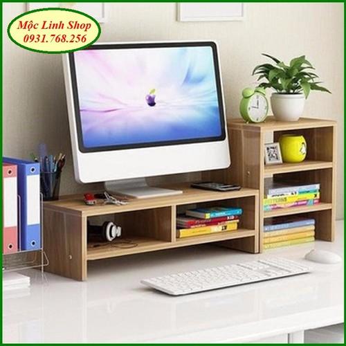 Kệ gỗ để màn hình 2 tầng, có ngăn tủ phụ bên cạnh - 5766383 , 12235035 , 15_12235035 , 550000 , Ke-go-de-man-hinh-2-tang-co-ngan-tu-phu-ben-canh-15_12235035 , sendo.vn , Kệ gỗ để màn hình 2 tầng, có ngăn tủ phụ bên cạnh
