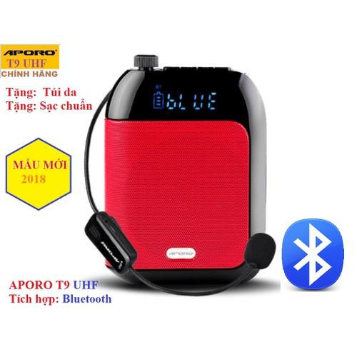 Loa trợ  giảng không dây Aporo T9 UHF có Bluetooth chính hãng