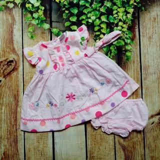 Đầm Bé Gái In Chấm Bi Hoa Kèm Băng Đô - QAGD5058 thumbnail