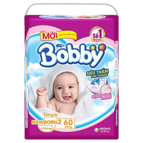 [Tặng 6 tã quần size M] Miếng lót Bobby Newborn 2 - 60 miếng cho bé trên 1 tháng. - 5782367 , 12255089 , 15_12255089 , 145000 , Tang-6-ta-quan-size-M-Mieng-lot-Bobby-Newborn-2-60-mieng-cho-be-tren-1-thang.-15_12255089 , sendo.vn , [Tặng 6 tã quần size M] Miếng lót Bobby Newborn 2 - 60 miếng cho bé trên 1 tháng.