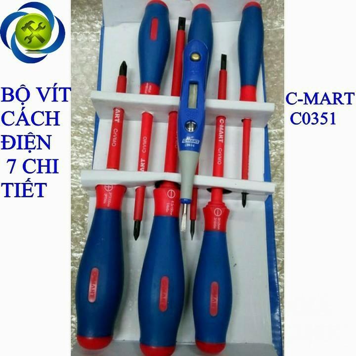 Bộ vít cách điện C-MART C0351 7 chi tiết 2