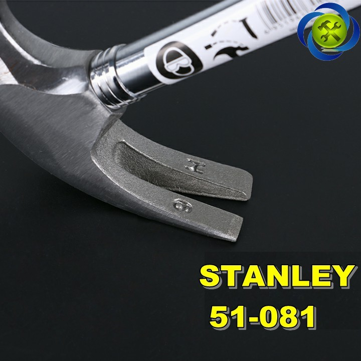 Búa nhổ đinh cán sắt Stanley 51-081 16oz-450g 4