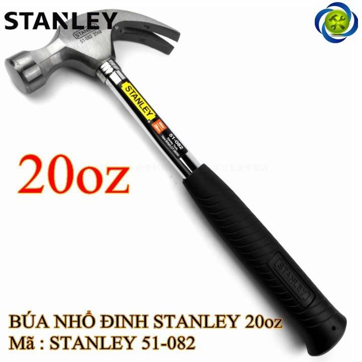 Búa nhổ đinh cán sắt Stanley 51-082 16oz-570g 1