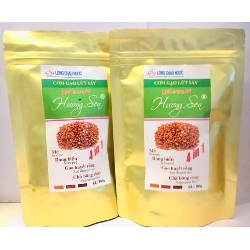 Combo 5 Cơm Gạo Lứt Sấy Long Châu Ngọc Hương Sen 4in1 100g