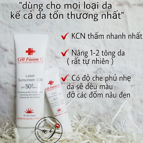 Kem chống nắng Cell Fusion C Laser Sunscreen 100 bản mini 10ml - 5783273 , 12256128 , 15_12256128 , 140000 , Kem-chong-nang-Cell-Fusion-C-Laser-Sunscreen-100-ban-mini-10ml-15_12256128 , sendo.vn , Kem chống nắng Cell Fusion C Laser Sunscreen 100 bản mini 10ml