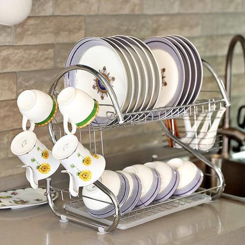 Kệ đựng bát đĩa và đồ dùng nhà bếp inox