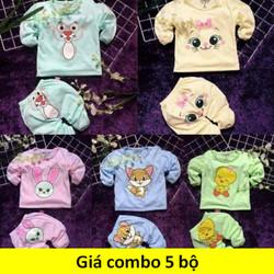 quần áo trẻ em combo5bộ - quần áo trẻ em 5